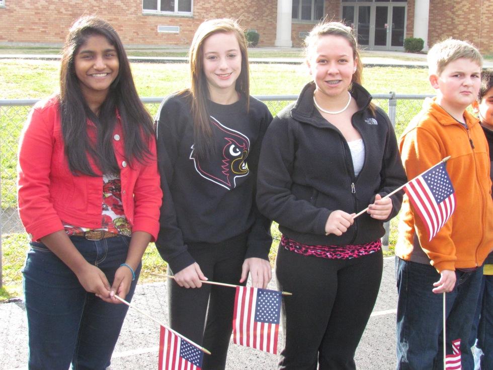 8th Graders Celebrating Verterans Day